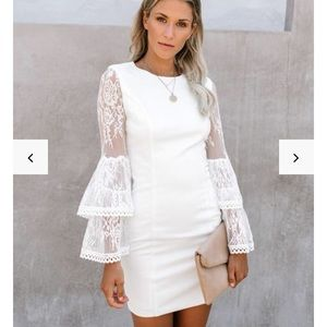 Just one kiss white dress medium